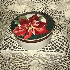 Mikasa Christmas covered bowl.